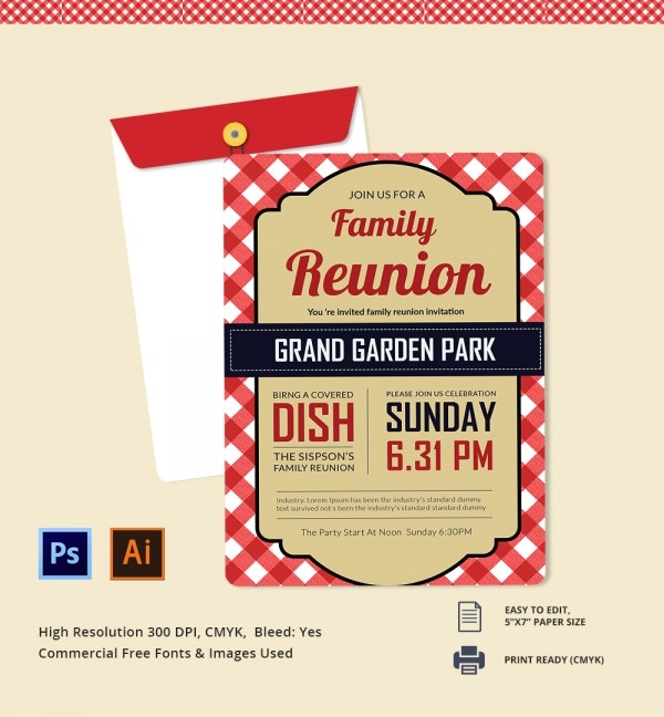 Freebie of the Day - Family Reunion Invitation Template