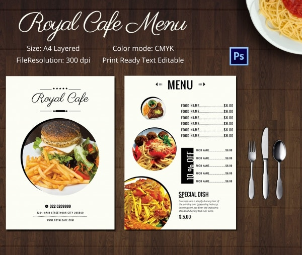 Freebie of the Day - Cafe Menu Template