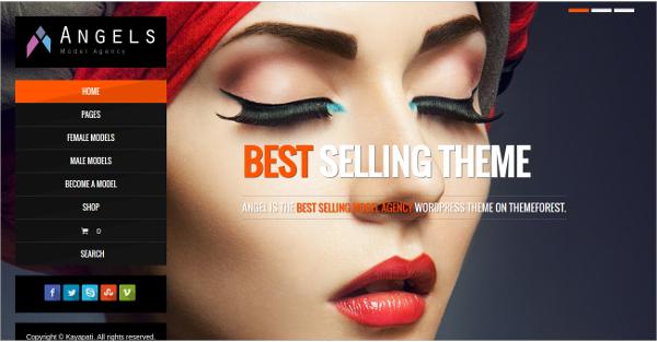 fashion model agency actors wordpress theme
