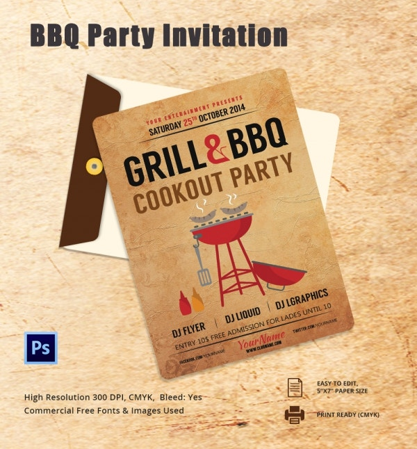 Freebie of the Day - BBQ Party Invitation Template