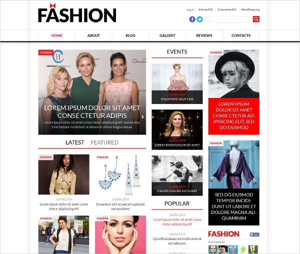 Fashion & Model Agency WordPress Theme