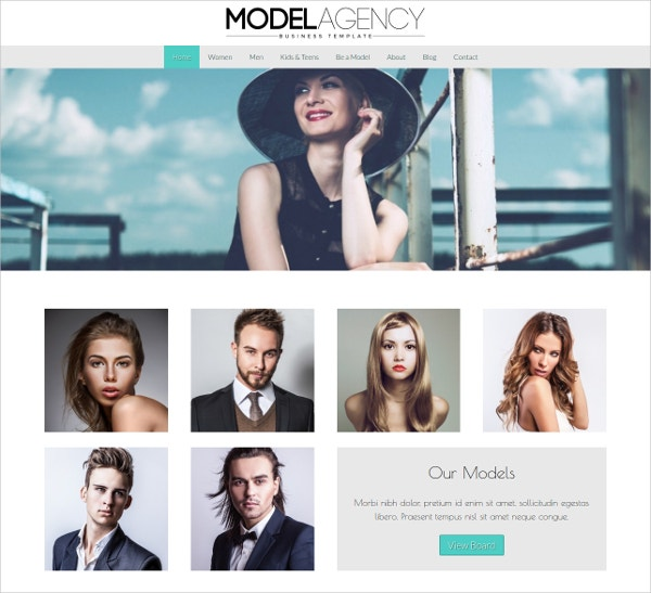 Beautiful Model Agency WordPress Theme