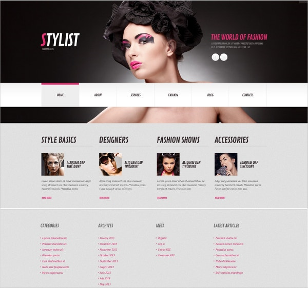 Stylish Model Agency WordPress Theme