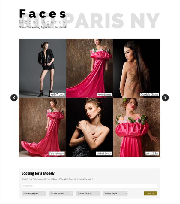 unique model agency wordpress theme