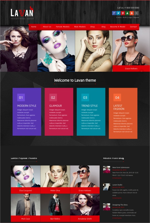 Model Agency & Studio WordPress Theme