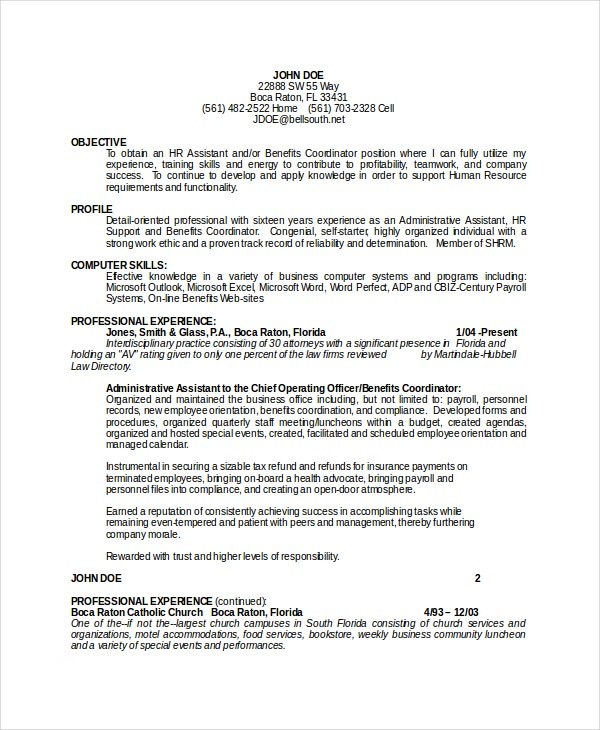 administrative assistant resume objective - Administrative Assistant Resume Objectives