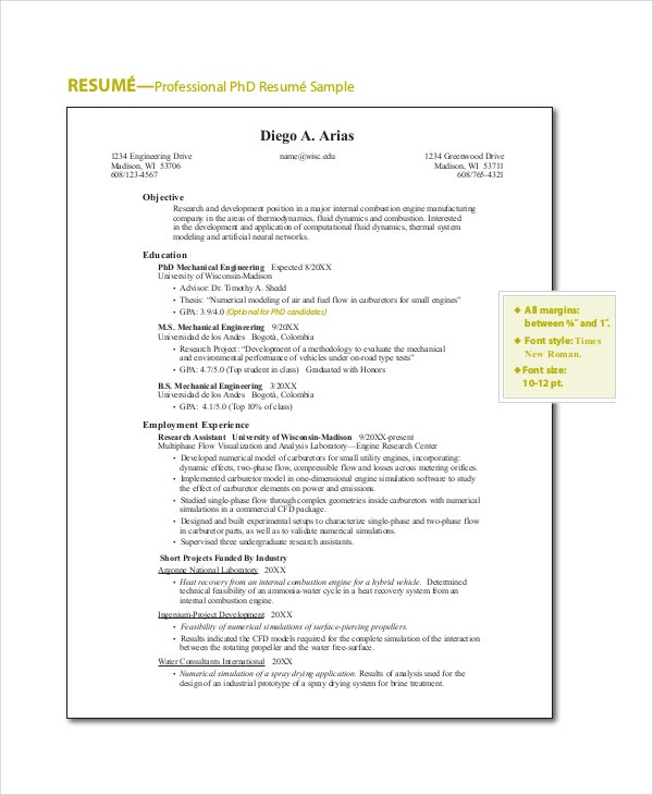 professional resume objective template