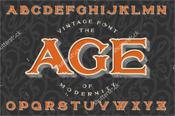 stylish retro vintage font