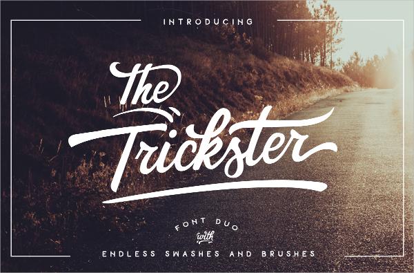 trickster vintage font
