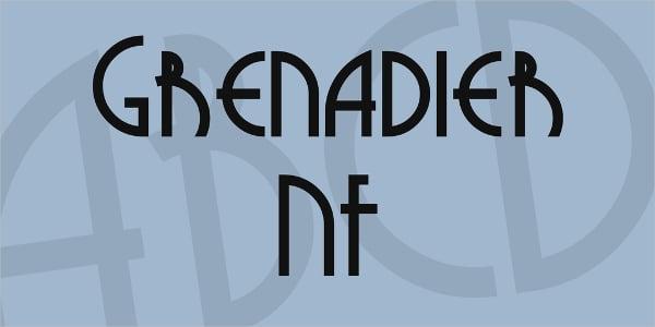 grenadier nf vintage font