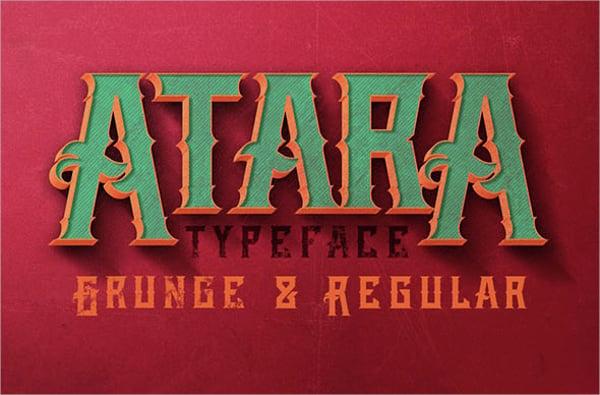 atara vintage font