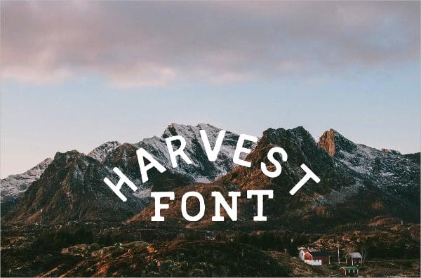 harvest vintage font