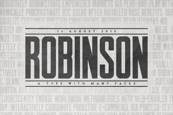 robinson vintage font