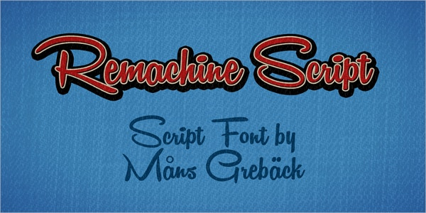 remachine script vintage font