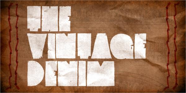vintage denim font