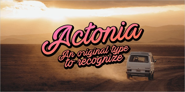 actonia vintage font