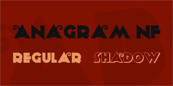 anagram vintage font