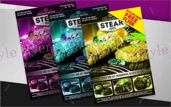 Steak House FREE PSD Flyer Template