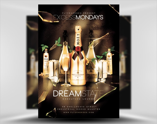 Excess Mondays Free Flyer Template