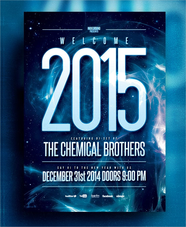 Chemical Brothers PSD Flyer
