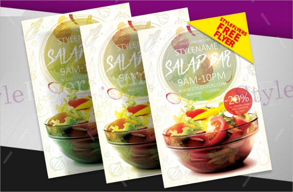 Salad Bar Flyer Free PSD Flyer Template