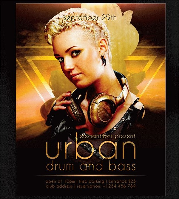 Urban Drum & Bass Flyer PSD Template