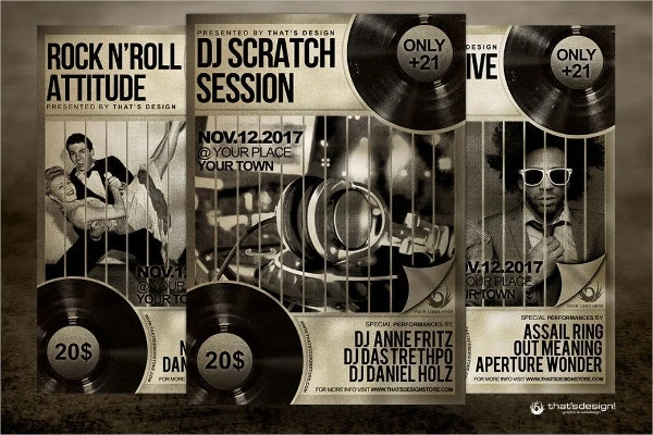 free scratch flyer template