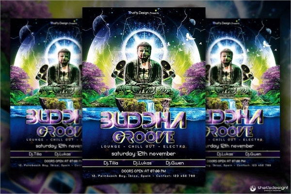 Buddha Free Flyer Template