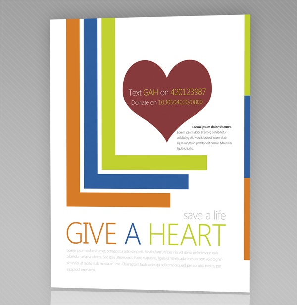 Give a Heart Flyer PSD