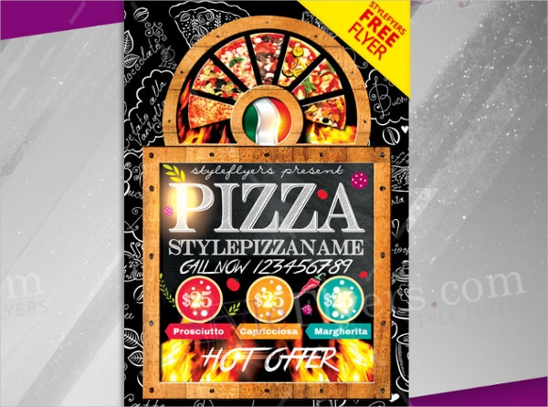 pizza free psd flyer template