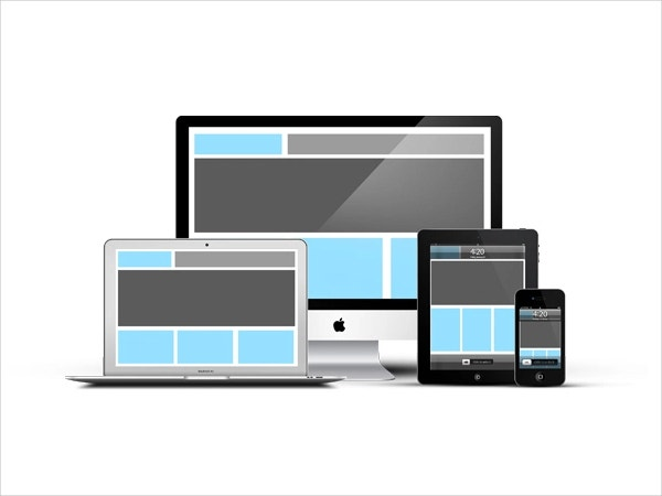Responsive Devices Apple PSD Mockup