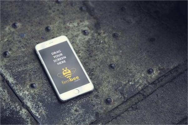 Free PSD Modern iPhone Mockup