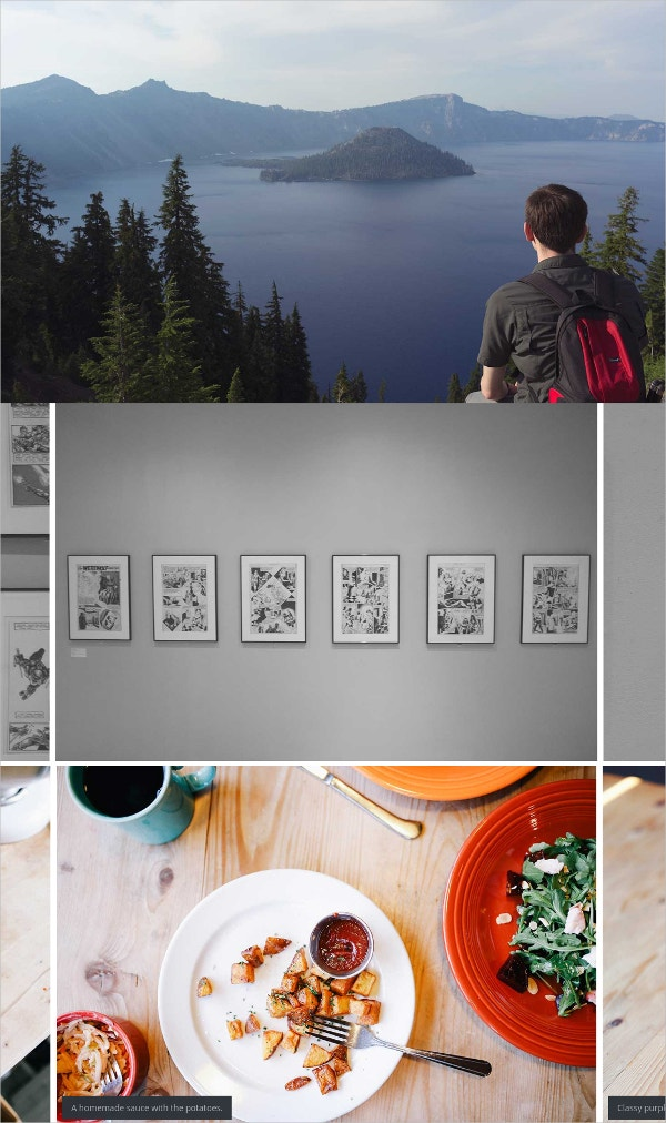 Typography Photography Gallery WordPress Theme