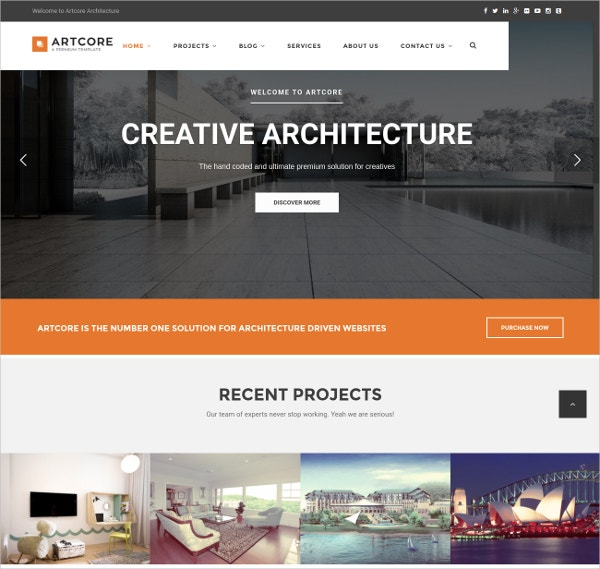 Typography Architecture & Interior Design WordPress Theme