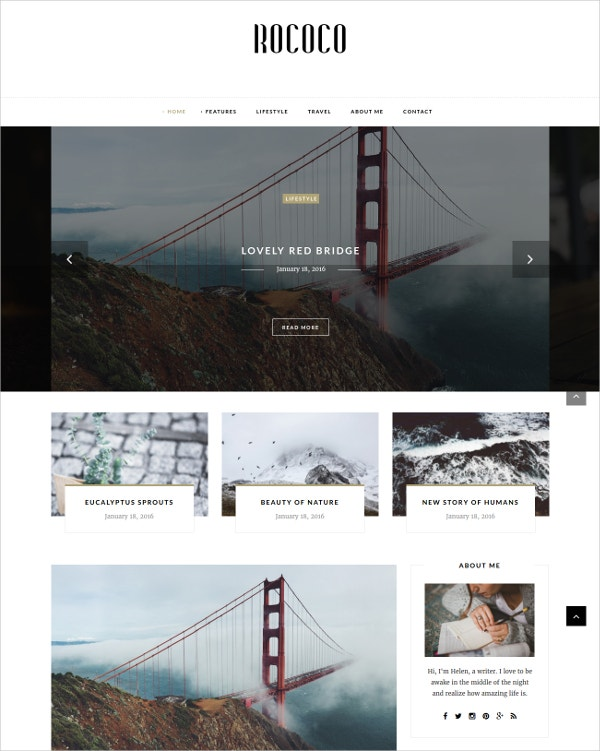 Typography Personal WordPress Theme for Bloggers