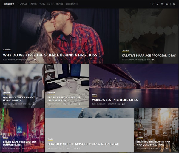 Modern Photography Typography WordPress Theme