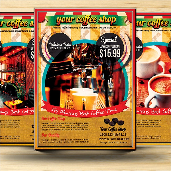Retro Coffe Shop Advertising Flyer