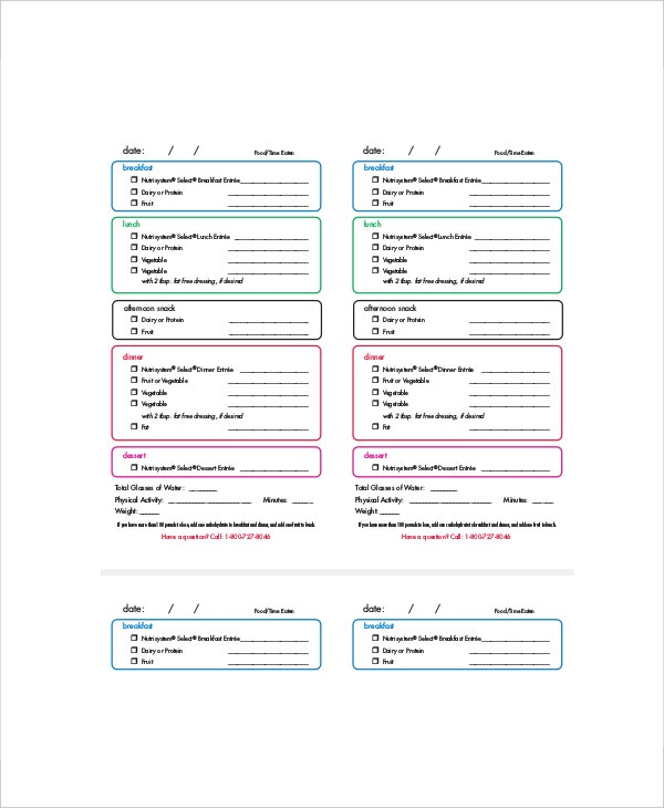 Daily Menu Planner Template - 6+ Free Pdf Documents Download