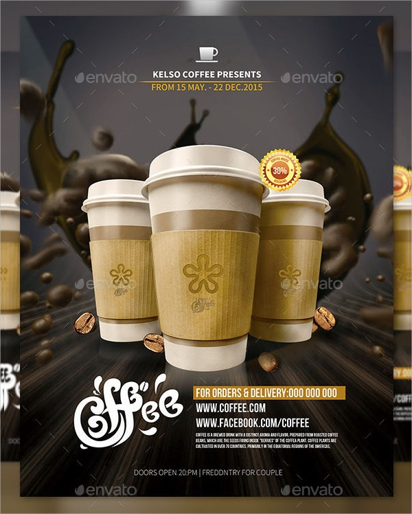 Advertising Coffee Shop Poster