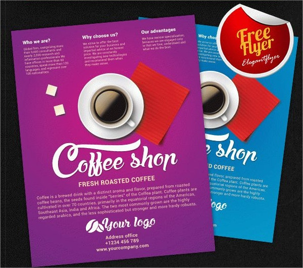 Roasted Coffee Shop Free Flyer PSD Template
