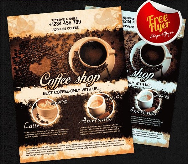 Coffee Shop Flyer Templates  Free Psd Ai Vector Eps Format