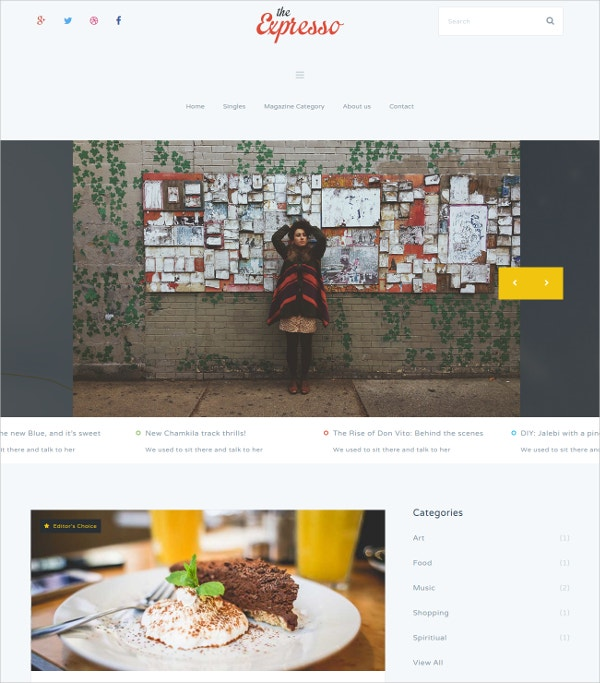 Responsive Magaine & News Blogging Mura Theme $48
