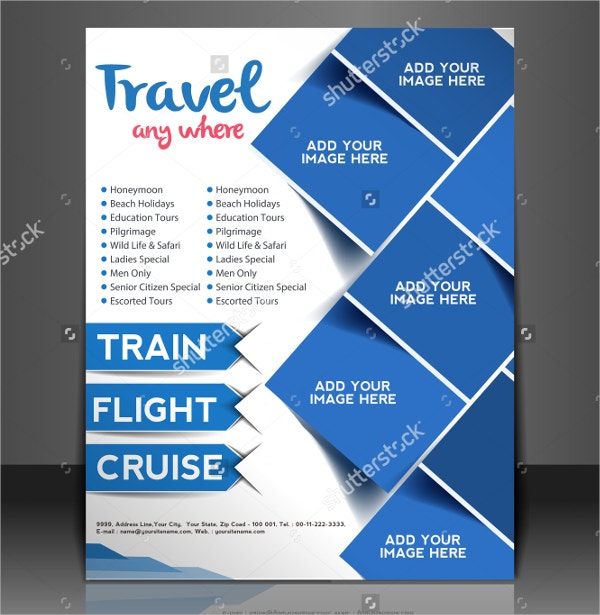 travel modern flyer