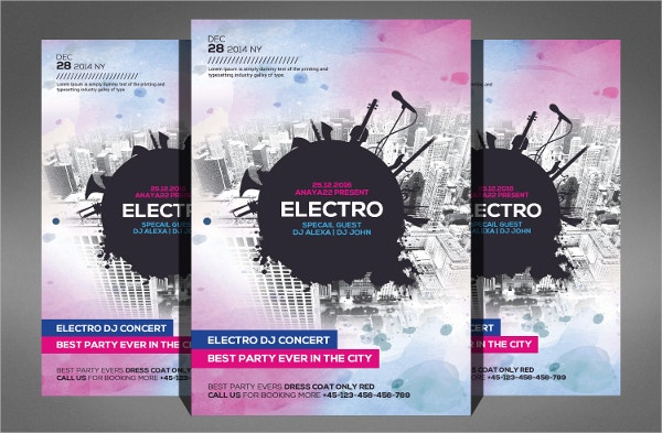 Modern Electro City Flyer Template
