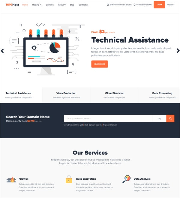 technology bootstrap mura theme 48