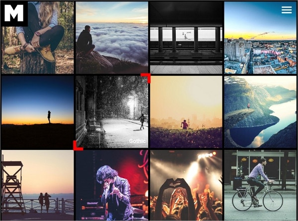 AngularJS Photograph WordPress Theme $44