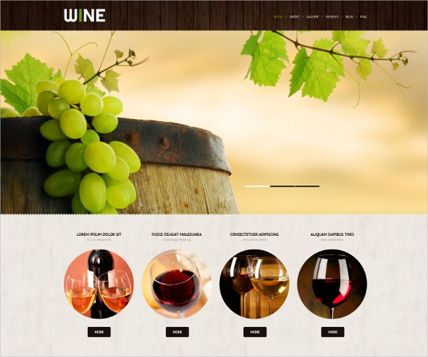 premium wine retro wordpress theme