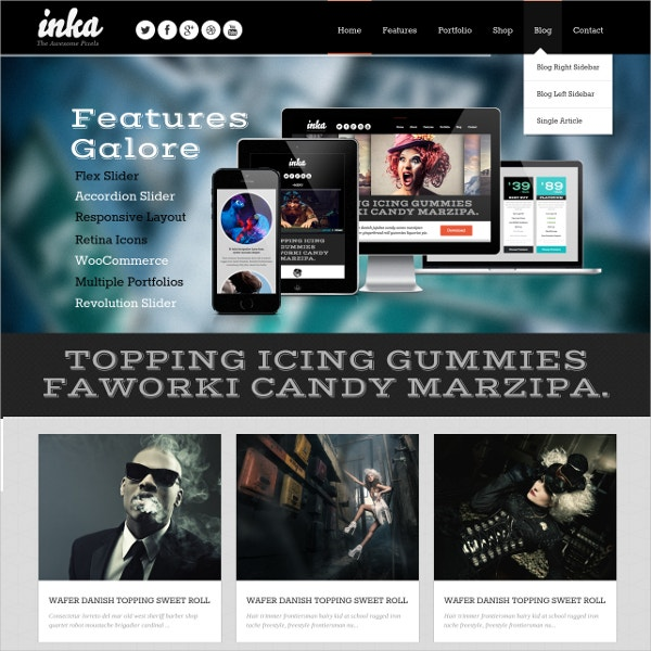 retro tattoo shop responsive wordpress theme