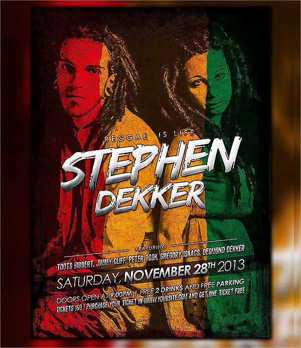 Reggae Artist Flyer
