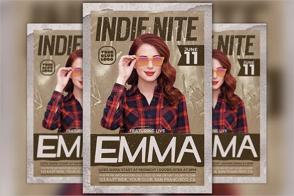 indie artist flyer
